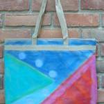 Hand Painted Large Tote Bag..