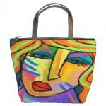 Small Handbag Tote Bag Prin..