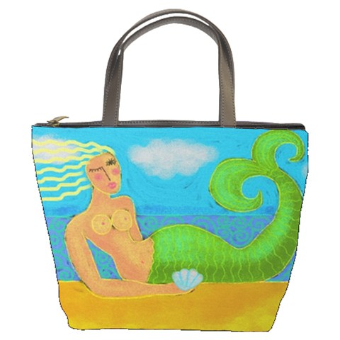 Small HandbagTote Bag Printed with My Abstract Mermaid Painting